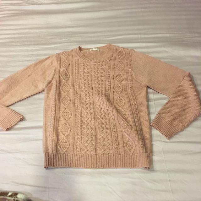 (含運)Net粉紅毛衣