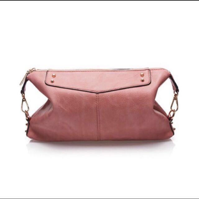 New Sometime Sofina 3 Clutch Bag In Dusty Pink