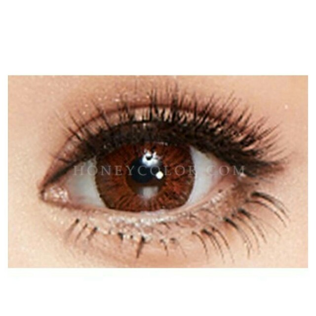 New Super Pinky Hazel coloured eye contacts
