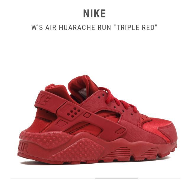 6fe93762b99f Nike Air Huarache Runs Triple Red