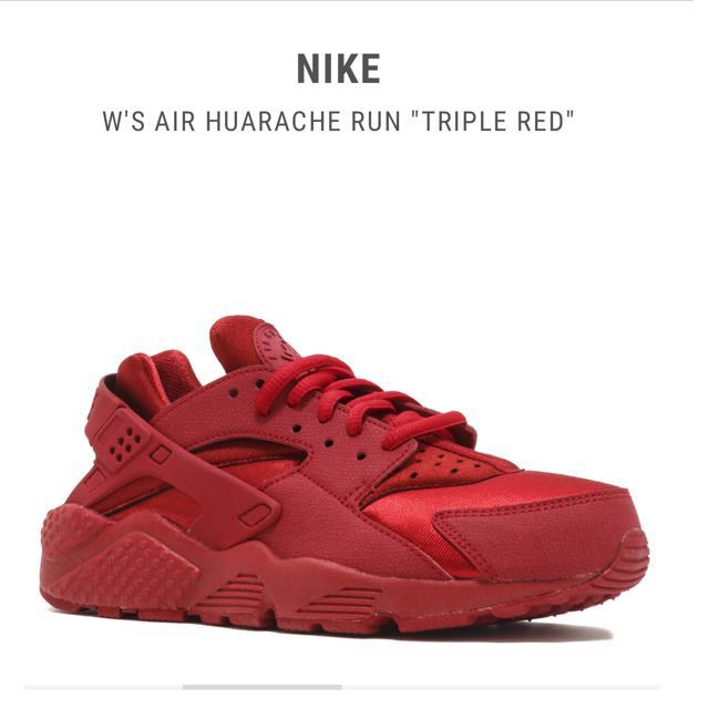 8f4844919496 ... new style nike air huarache runs triple red womens fashion shoes on  carousell 1a2de 3ad1c ...