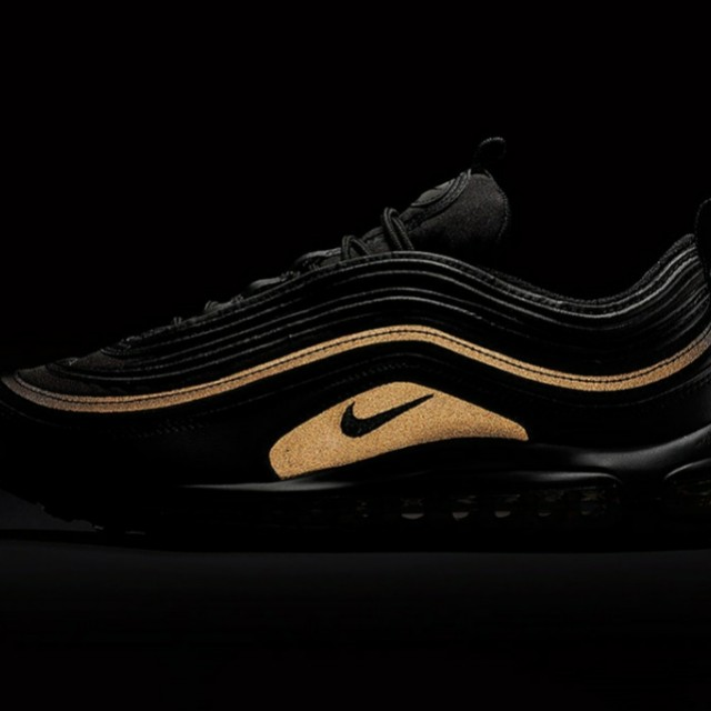 competitive price bc1fc 558c0 Nike Air Max 97 Black Gold Reflective Black Friday 2017 ...