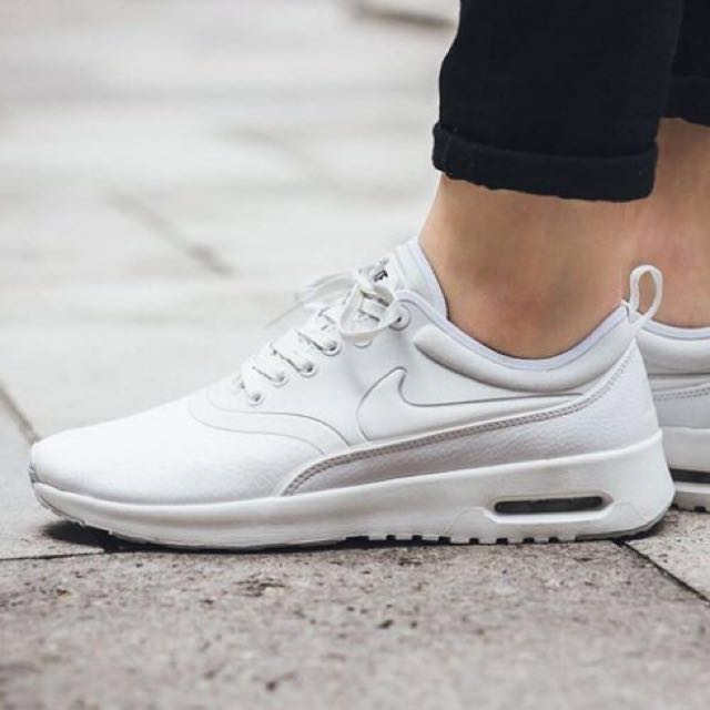 全新NIKE AIR MAX THEA ULTRA PRM 全白 慢跑鞋  女 US6 848279-100