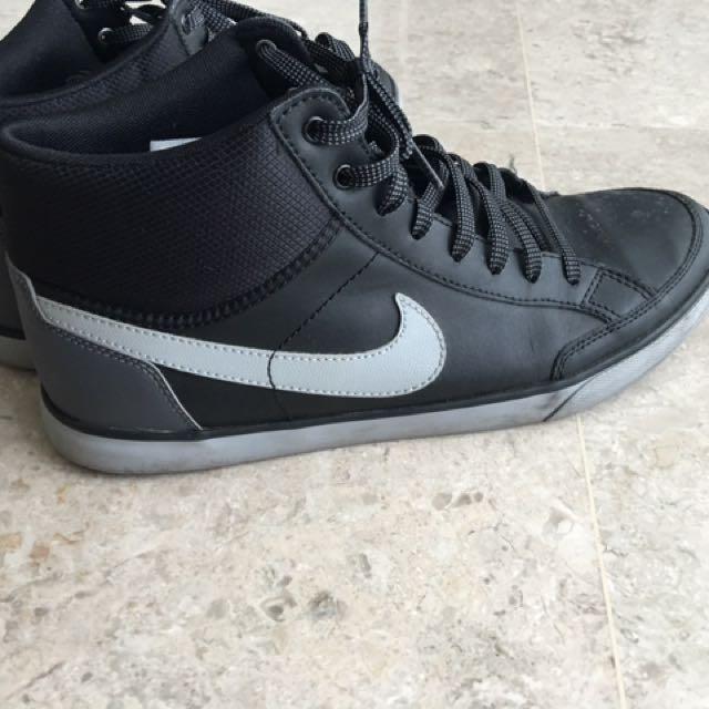 Nike Sneakers black Leather (high Cut