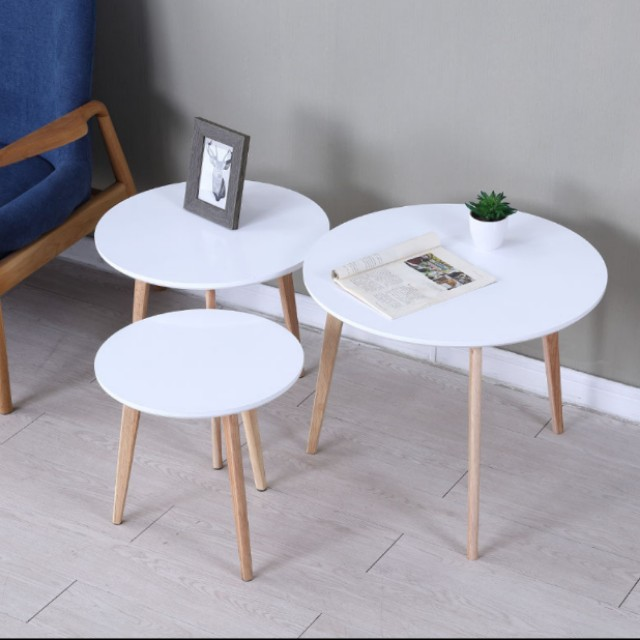 Nordic Round Simple Coffee Table Furniture Tables Chairs On Carousell