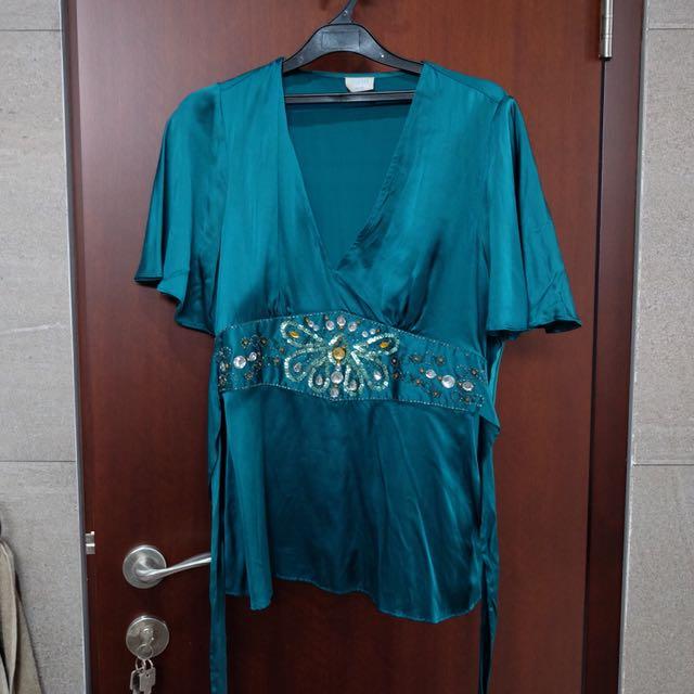 OASIS Turqoise blouse