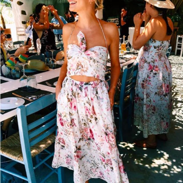 OFFERS WELCOME: Zimmermann Eden Embroidered Floral Tie Dress (Size 0)