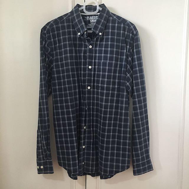 Old Navy plaid button-down shirt