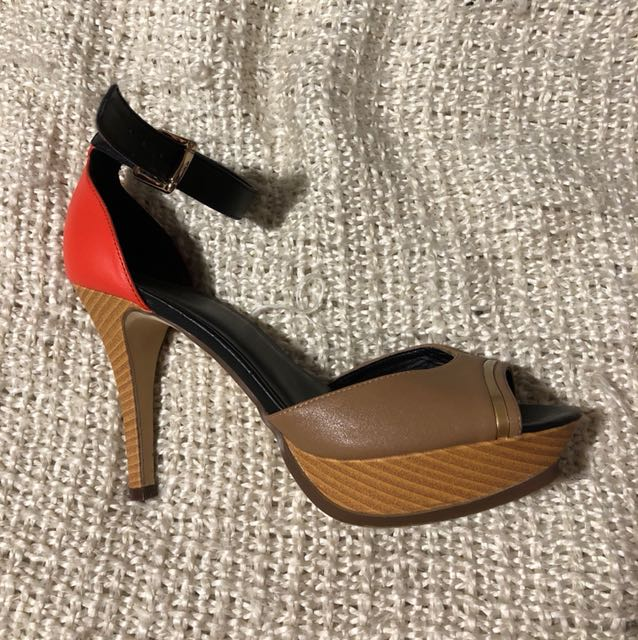Orange, Brown & Wood-like Heels