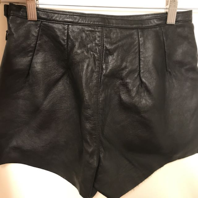 Pleather Shorts American Apparel