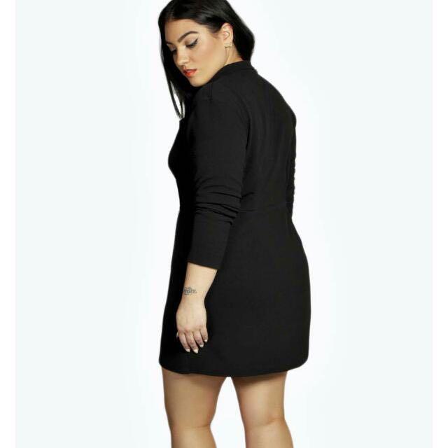 Plus Size Tuxedo Dress Womens Fashion On Carousell