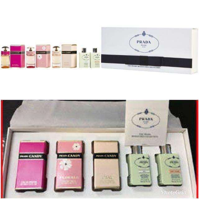 Prada perfume miniature set