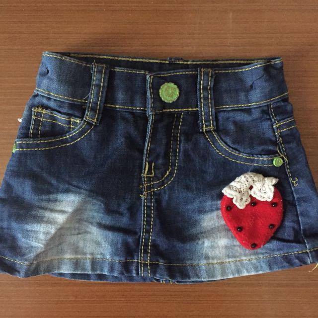 preloved jeans skirt size 12-24 m