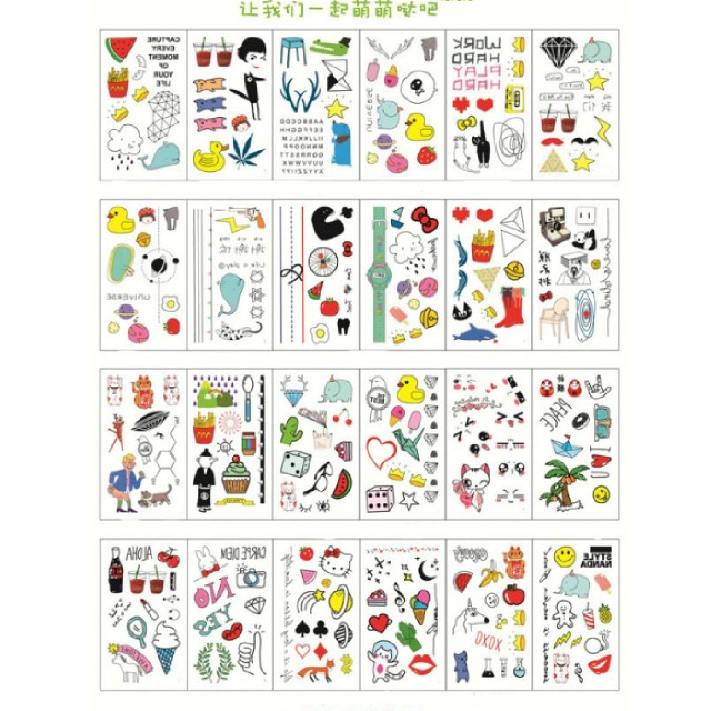 PREORDER Temporary Waterproof Tattoos (24 sheets in a set)