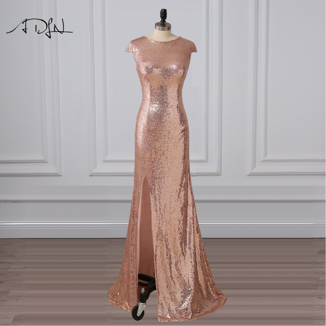 prom pink sequence dress