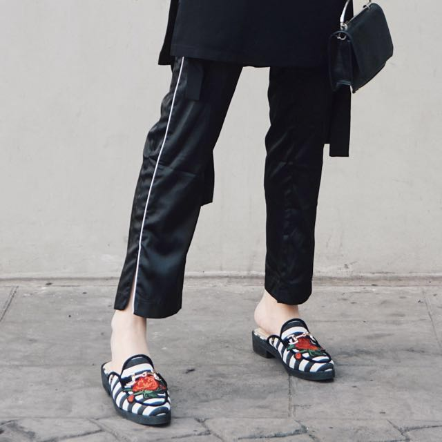 Quirky Striped Mules