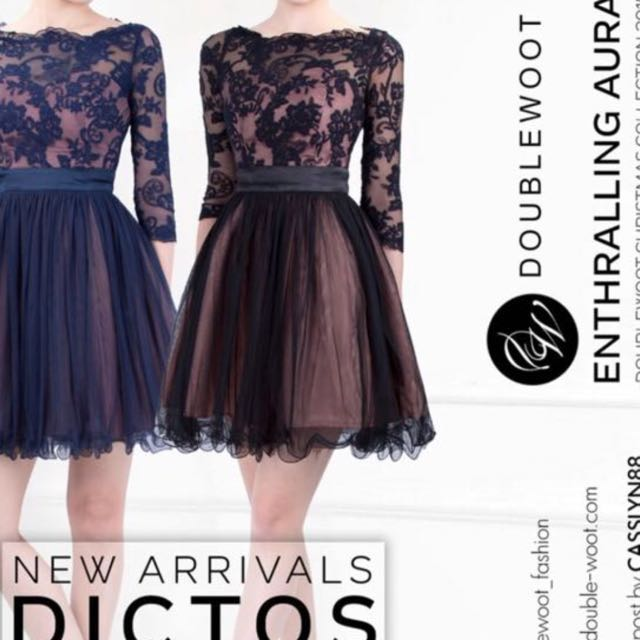 ⬇️REDUCED PRICE⬇️ Doublewoot Dark Blue And Pink Lace Dress