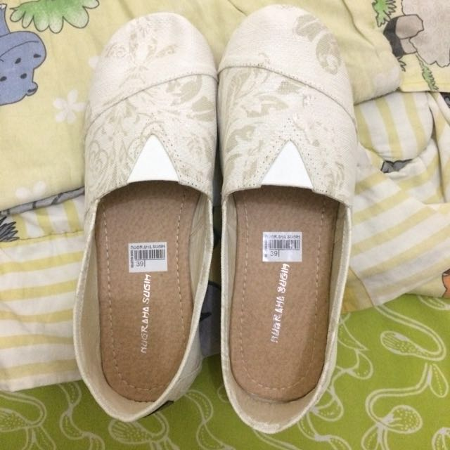 Slip on / Flat shoes canvas wakai look a like