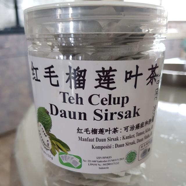 Pre Order Soursop Leaves 50 Teabags Teh Celup Daun Sirsak Food Drinks Beverages On Carou