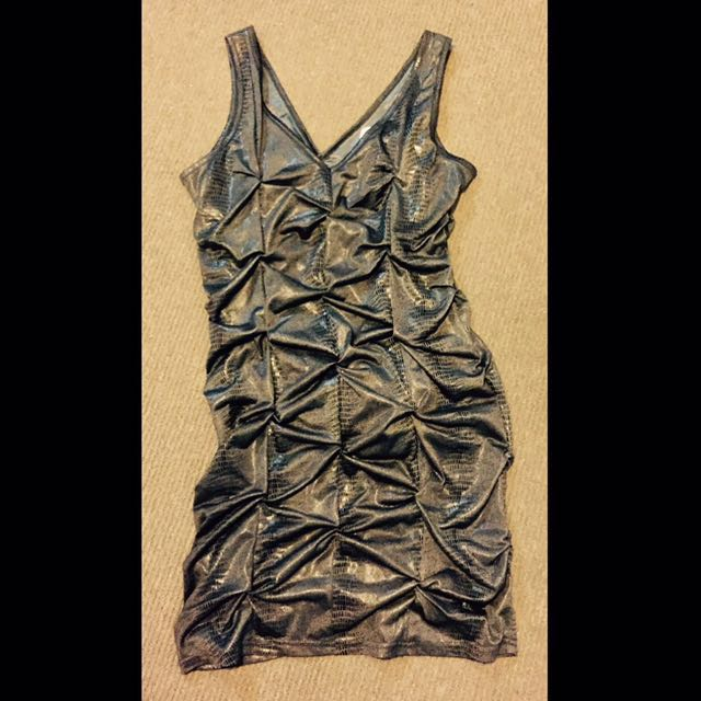 Spicysugar size 10 Faux Snakeskin Dress