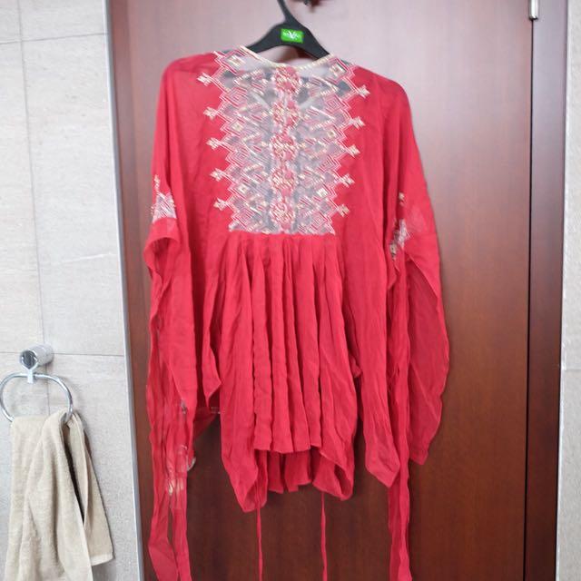 Studio Biyan Red Blouse