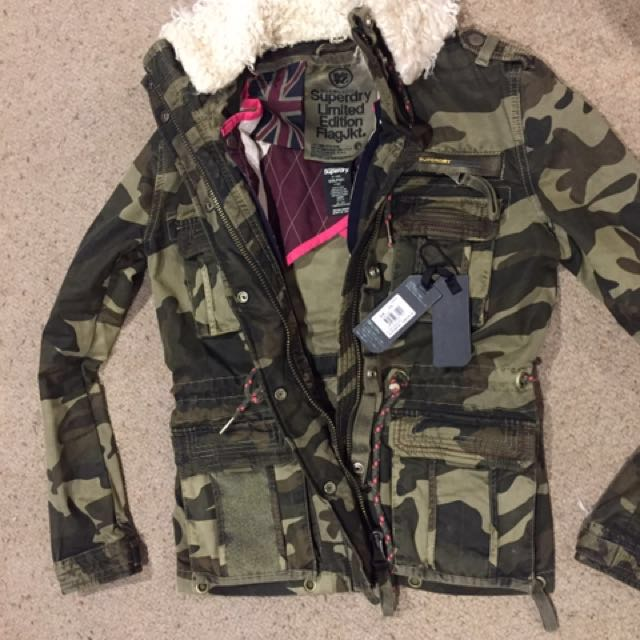 Super Dry Jacket new with tags small reduced