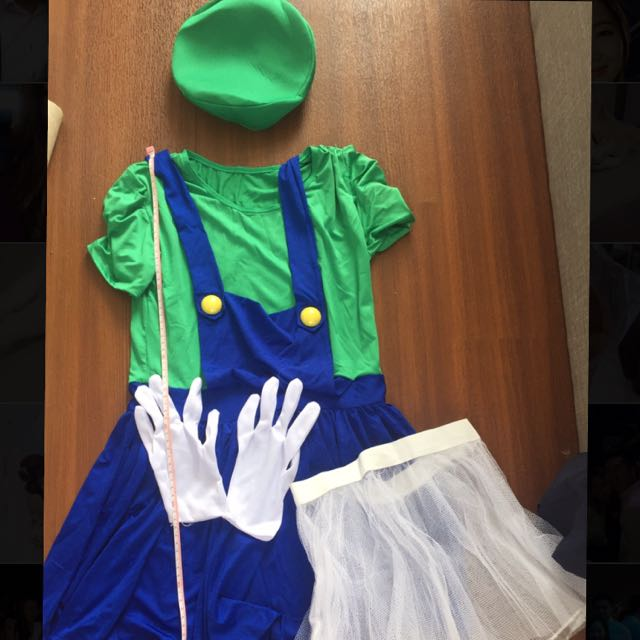 ad4aa31b2 Super Mario costume Luigi Halloween theme party