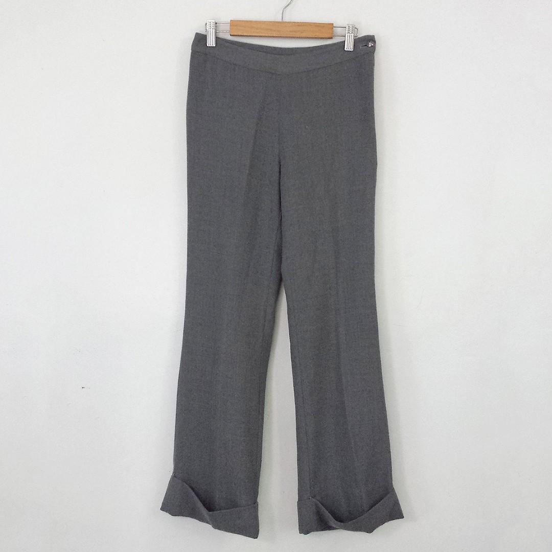 SUZUYA Light Gray Wool Pants