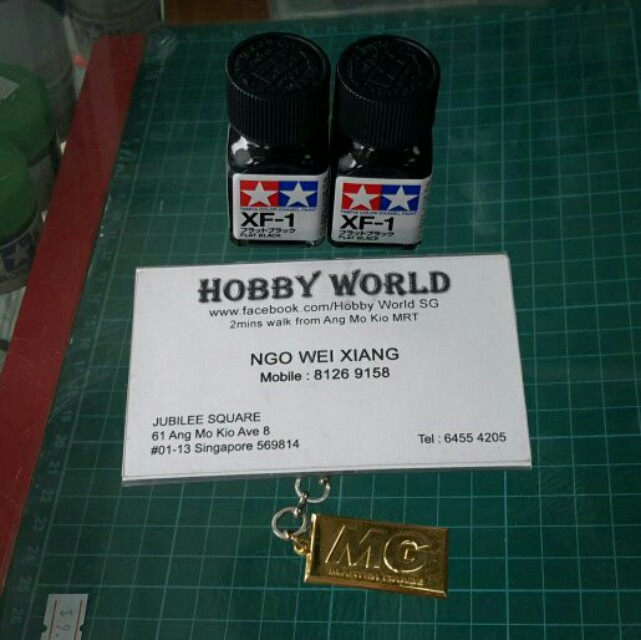 Tamiya Color Enamel Paint XF-1 Flat Black 10ml