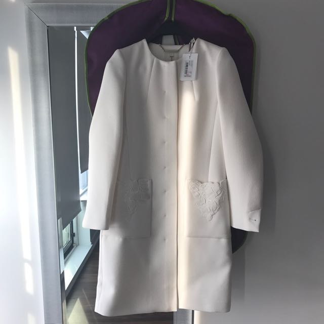 Ted baker trench coat white