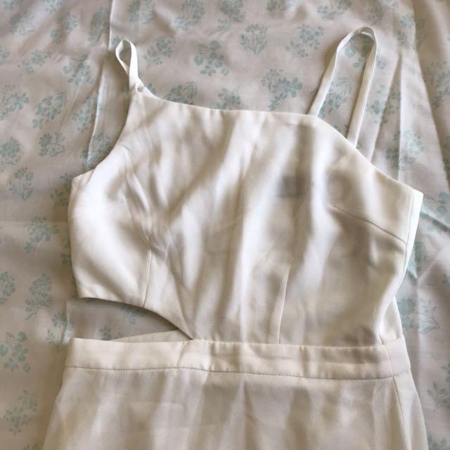 The Closet Lover (TCL) White Maxi Cut-Out Beach Dress