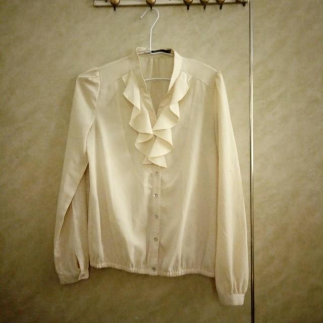 Theme鵝黃氣質襯衫