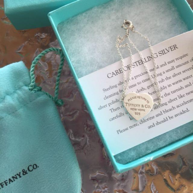 Tiffany & Co Bracelet - Double chain Return to Tiffany heart in small
