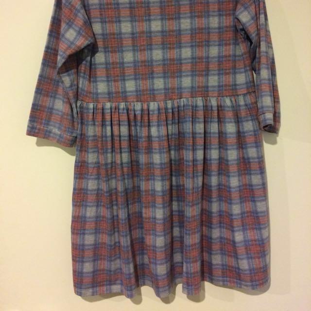 Topshop Dress Grey/Pattern