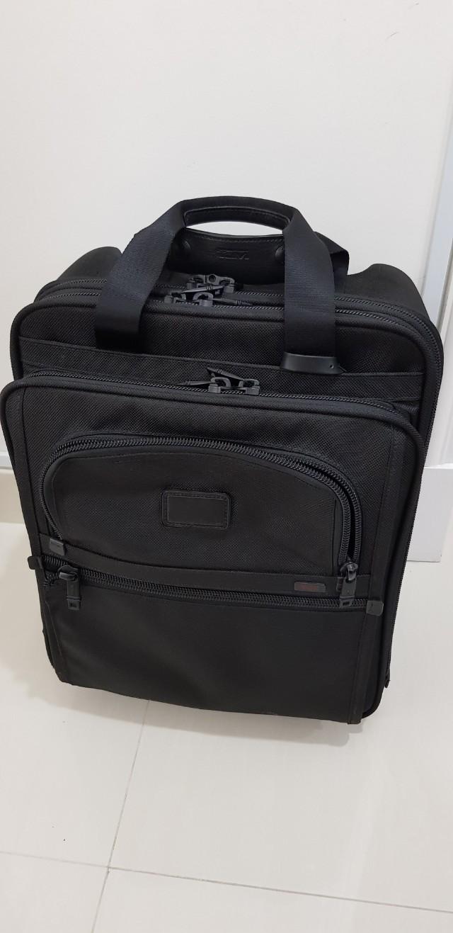 a8fd86843 Tumi Alpha 2-Wheeled Tall Laptop Briefcase 26126DH, Men's Fashion ...