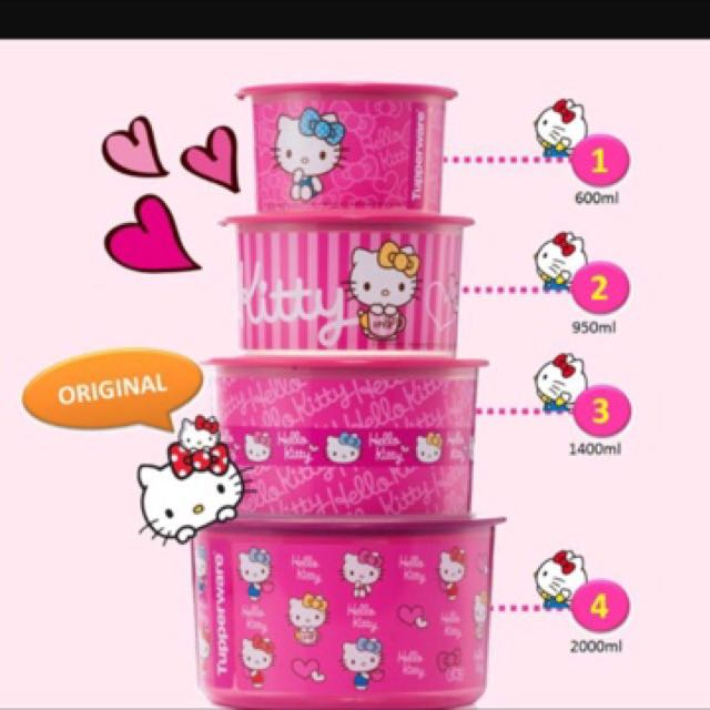 Tupperware hello kitty one touch set