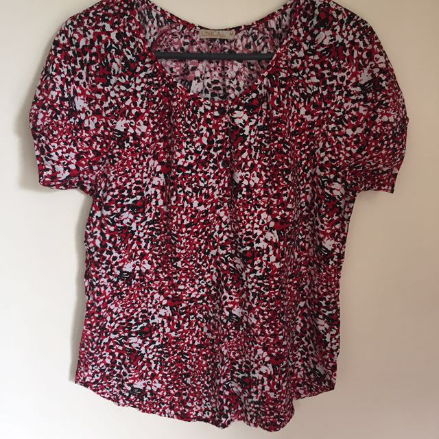 Unica Hija Red Patterned Top