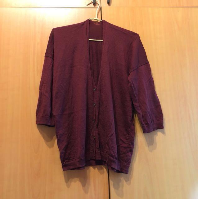 日本Uniqlo 落肩針織外套