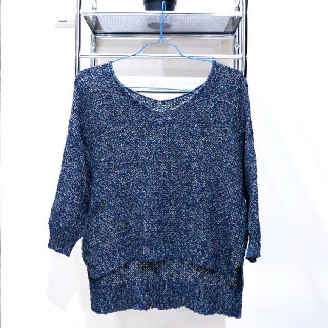 Uniqlo Navy Knit Sweater