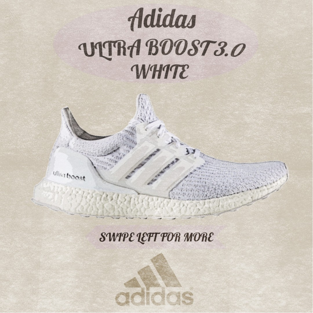 2544a886a70 US5.5-12.5) Ultra Boost 3.0 White and Parley Coral