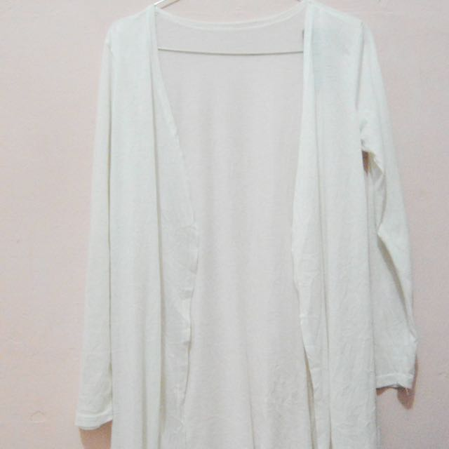 White Long Cardigan