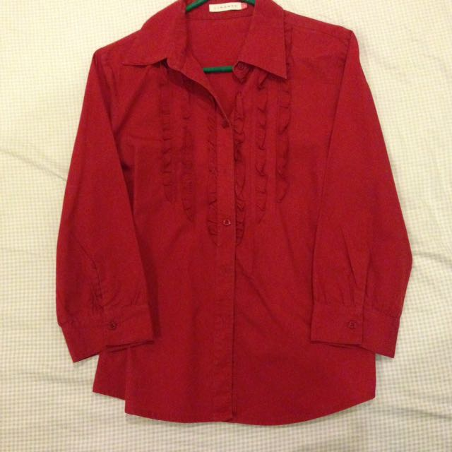 Women red shirt U2 brand, size M