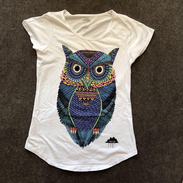Women's Mulga Owl white shirt