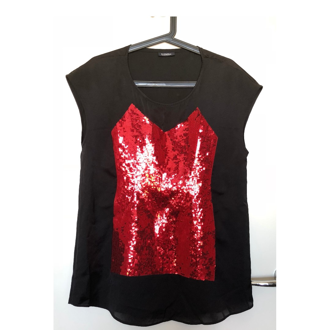 WORN ONCE! LIMI feu: Red Sequin Dress!