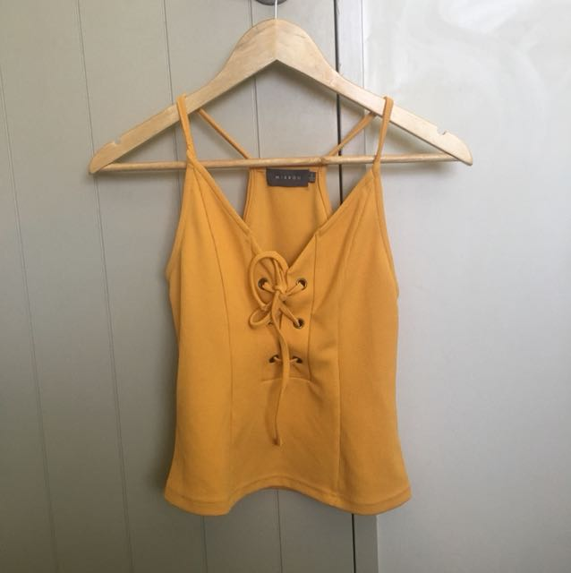 Yellow strappy-slightly cropped