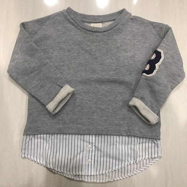 Zara kids grey sweater