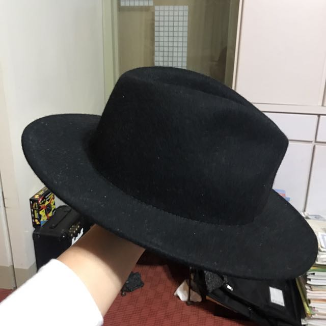 Zara man全羊毛男女皆可黑色紳士帽