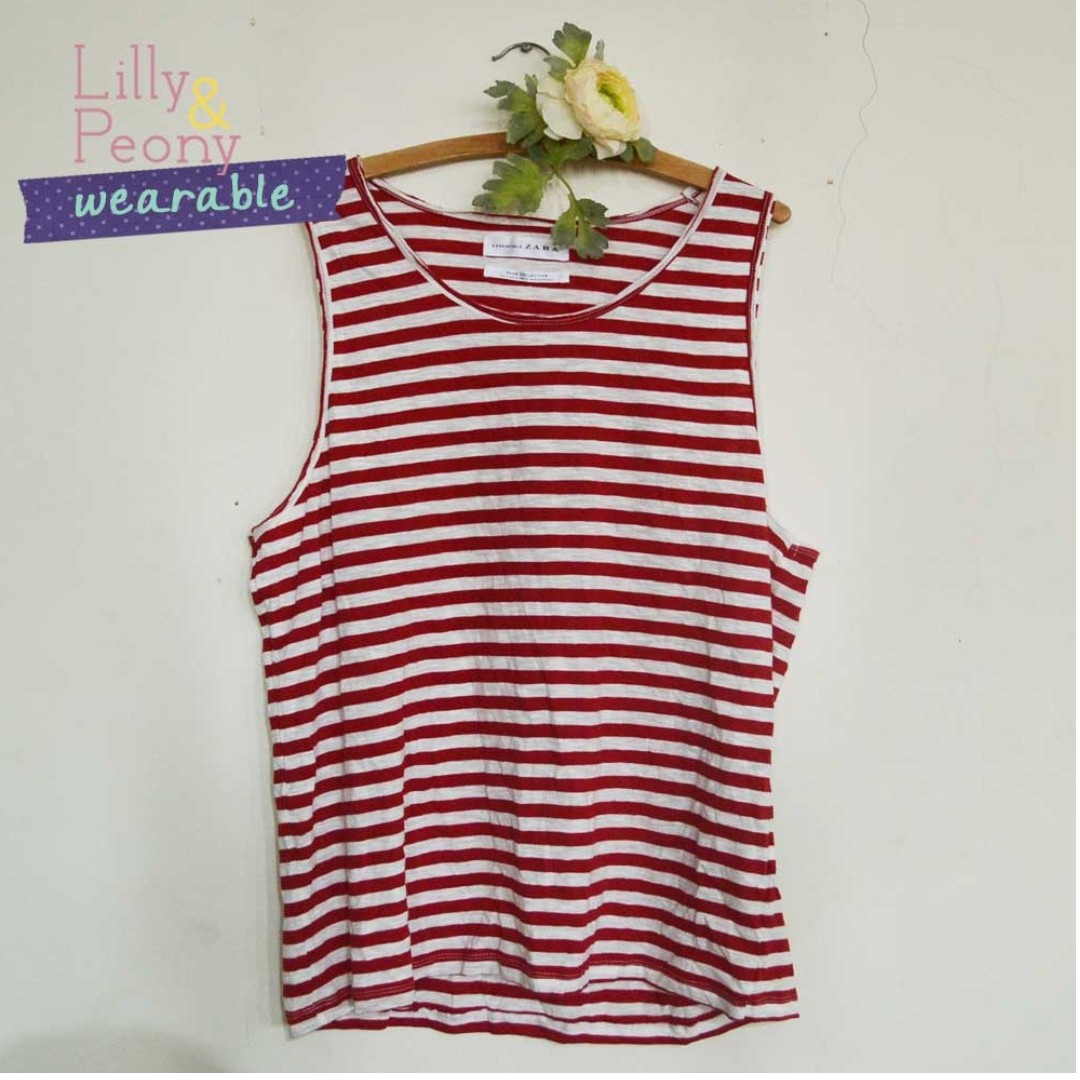 Zara Nautical Striped Tank