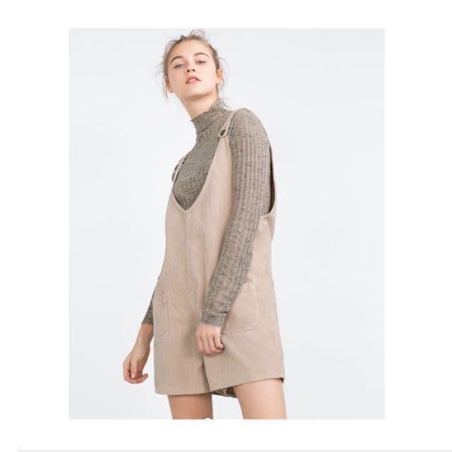 for sale fantastic savings reputation first Zara Trafaluc Corduroy Pinafore Shorts, Women's Fashion ...