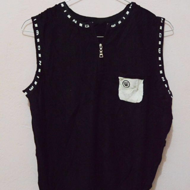 Zipped Pocket Vest/Tank Top